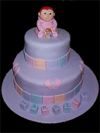 Christening Cake - Elegance of Blackpool